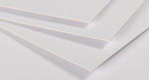 cartón presentación blanco
