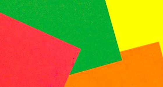 Papeles y cartulinas fluorescentes