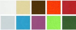 cartulinas gofradas de colores