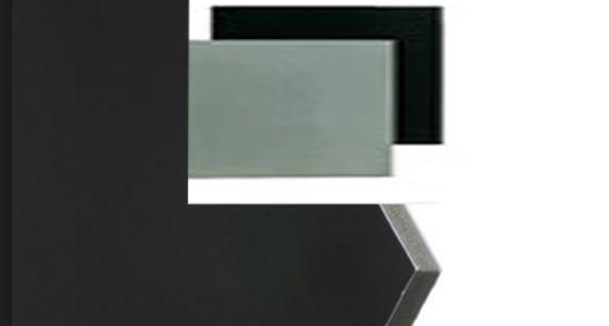 Cartón pluma en color negro y gris