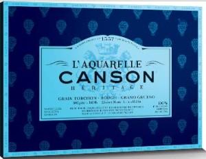 Papel acuarela Canson Heritage de grano grueso