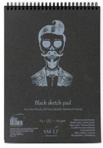 bloc papel negro